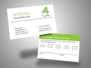 Visitenkarten-Terminkarte